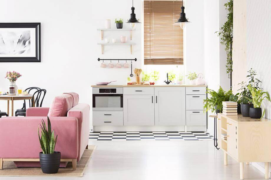 Combining your kitchen and living room: pros and cons